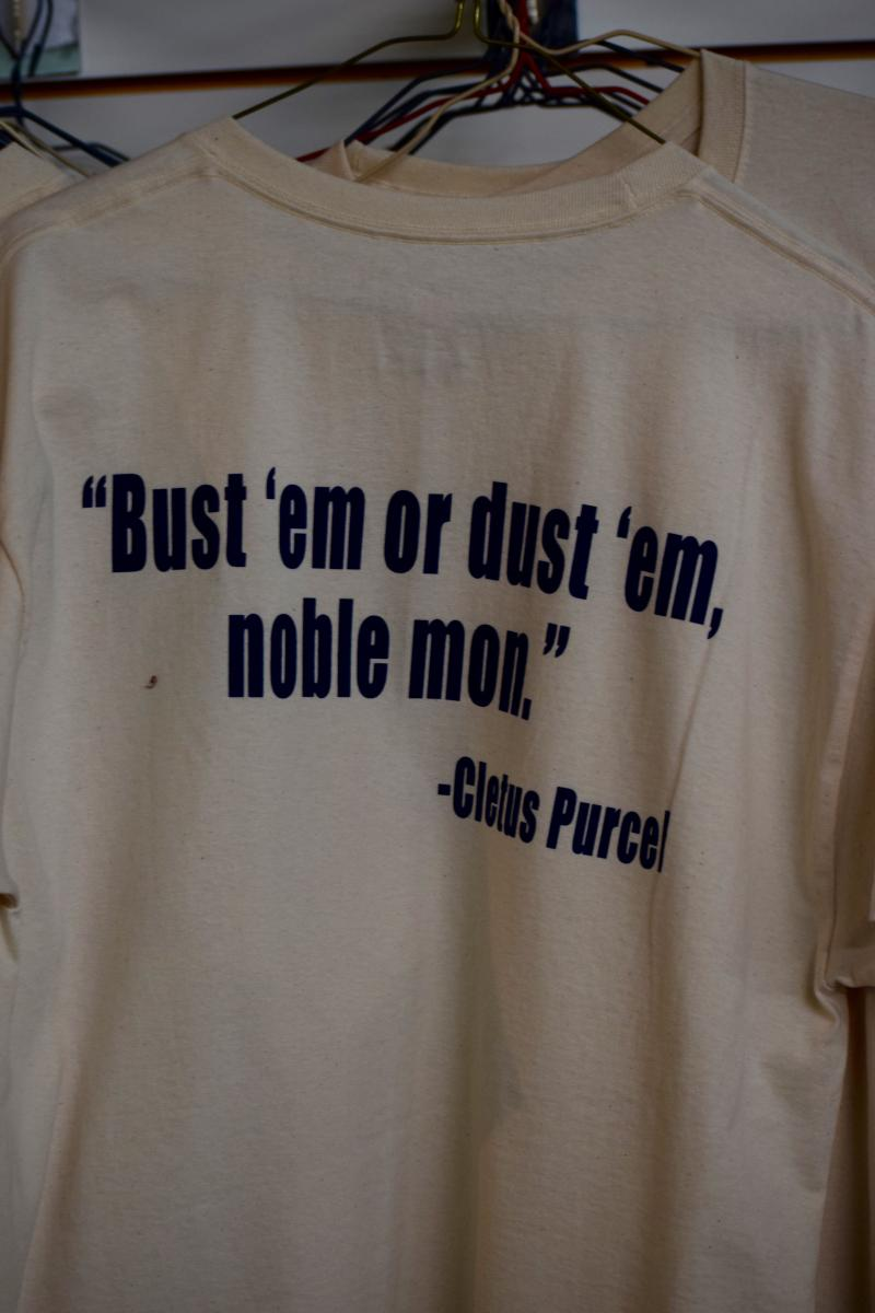 Clete Purcel quote on dave robicheaux t-shirt at Books Along The Teche