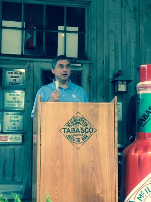 Lieutenant Governor Jay Dardenne press conference at Tabasco National Travel and Tourism Week