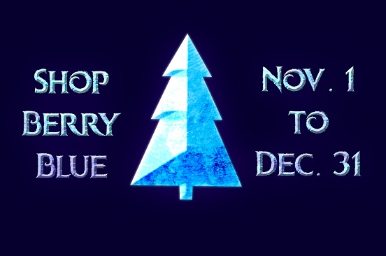 Shop Berry Blue holiday deals shopping campaign