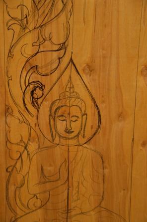 Mural at Laotian Temple - Courtesy of Iberia Parish CVB