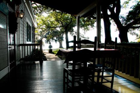 Cafe Jefferson Porch Rip Van Winkle Gardens Jefferson Island - Courtesy of Iberia Parish CVB
