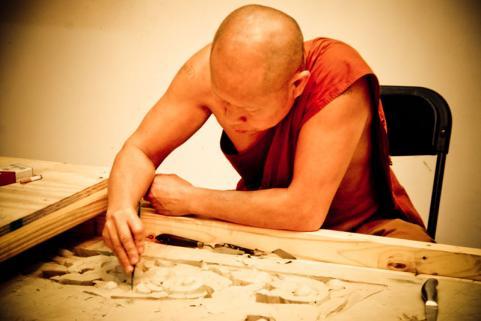 Monk at Laotian Temple - Courtesy of Iberia Parish CVB