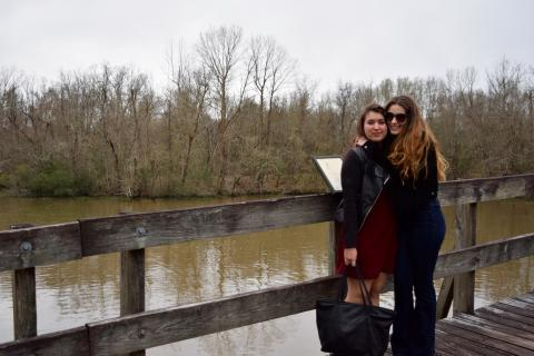 johanna hyves and sloane labiche at lake fausse pointe state park